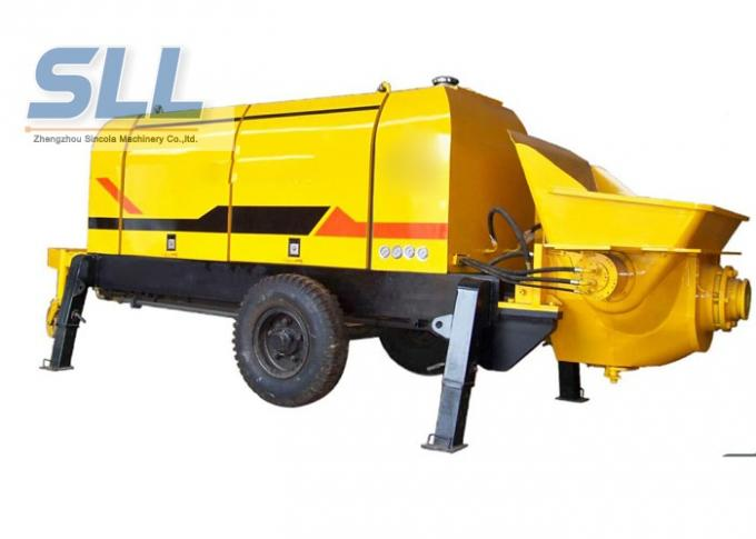 Large Capacity Mobile Cement Mortar Pump Long Service Life 12 Months Warranty